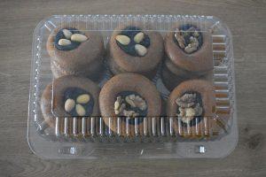 medovniky certekova - medovnikove krabicky - krabicka medovnikov so slivkovym lekvarom a vlasskymi orechmi a mandlami 1