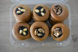medovniky certekova - medovnikove krabicky - krabicka medovnikov so slivkovym lekvarom a vlasskymi orechmi a mandlami 2